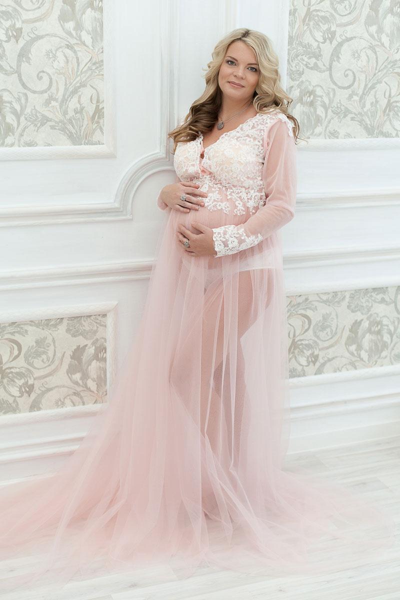 Прокат пеньюаров - Пеньюар розовый