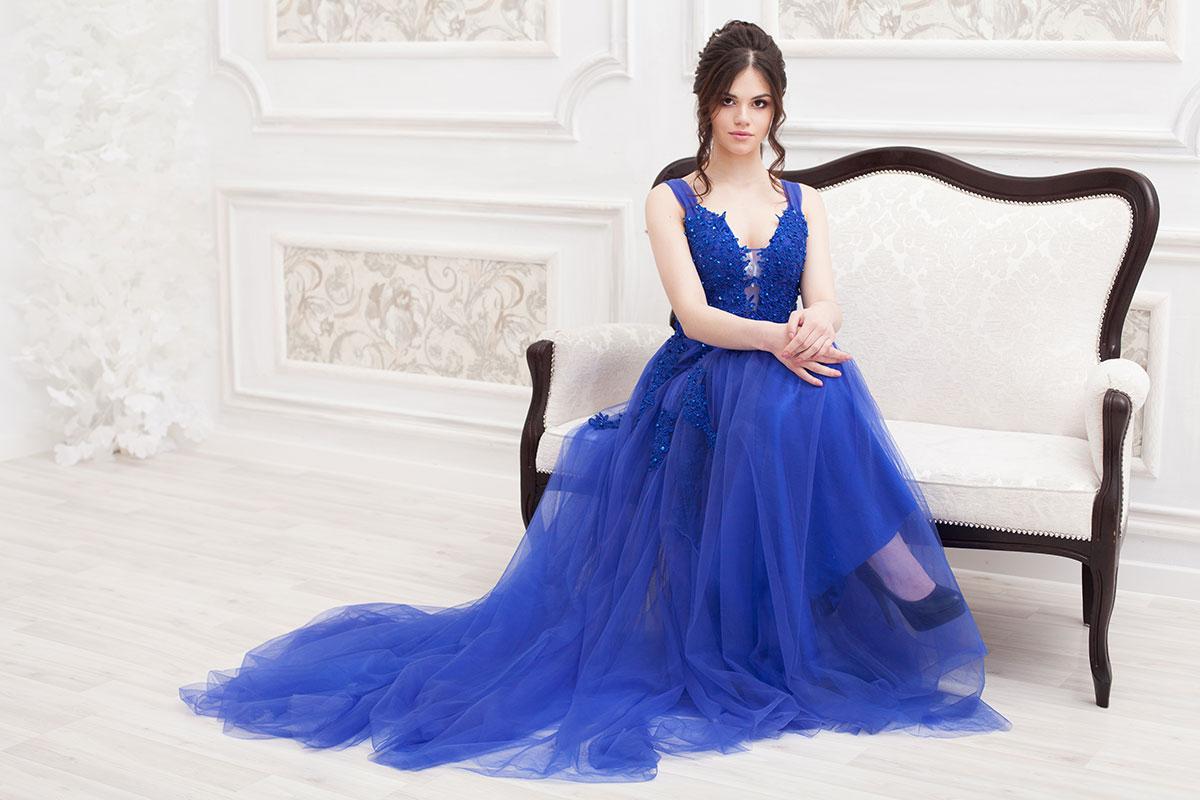 Прокат платья Синее