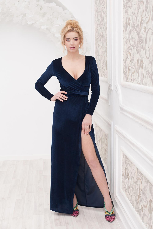Прокат Элегантное бархатное платье