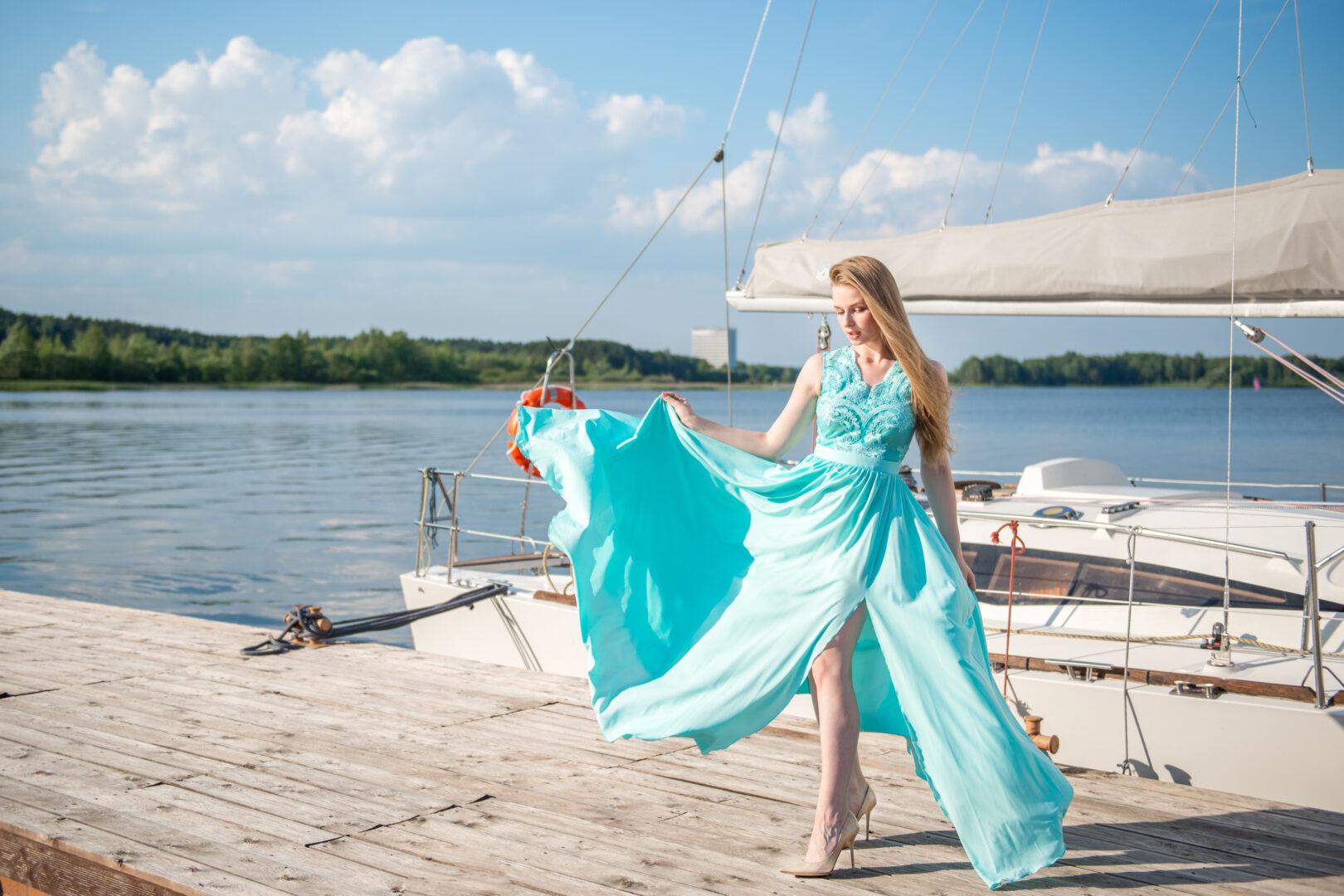 Прокат Платье Бриз (бирюзовое)