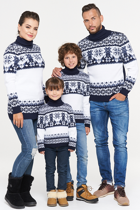 прокат Family Look Сине-белый комплект