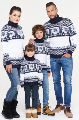 Family Look Сине-белый комплект