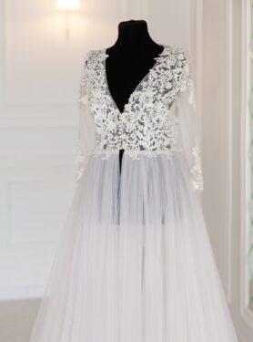 Нежное и воздушное будуарное платье
