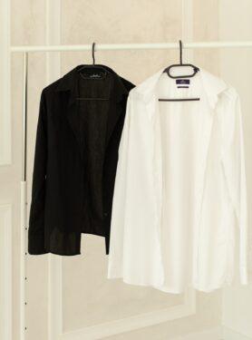 Белая и черная рубашка для фотосессии