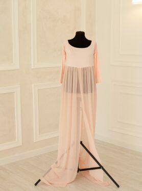 Пеньюар-платье с разрезом для фотосессии в ожидании